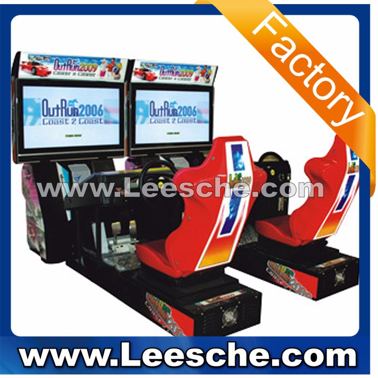 LSJQ-528 realistic steering wheel coin operated arcade game machine simulator game machine play car racing games online