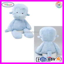 D666 Sitting Soft Fleece Animal Monkey Stuffed Plush Blue Monkey Toy in Shenzhen
