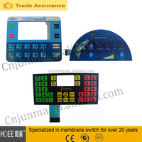 high quality Custom manufacturing Polyester foil switches, IP 65 membrane switch keyboard