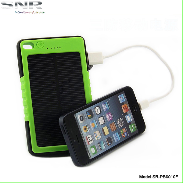 high capacity christmas gift 5000mah solar power pack rugged waterproof charger fashion case ce fcc rohs backup for mobile phone