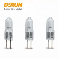 China Factory JC Quartz Glass 6V 12V 24V 10W 20W G5.3 G6.35 Base Energy Saving G4 Halogen Lamps , HAL-JC