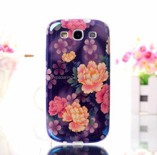 for Galaxy S3 Flower IMD TPU case back cover, for Samsung i9300 castle IMD Soft case