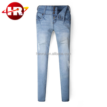 lady's jeans with moustache effect slim good looking leg design