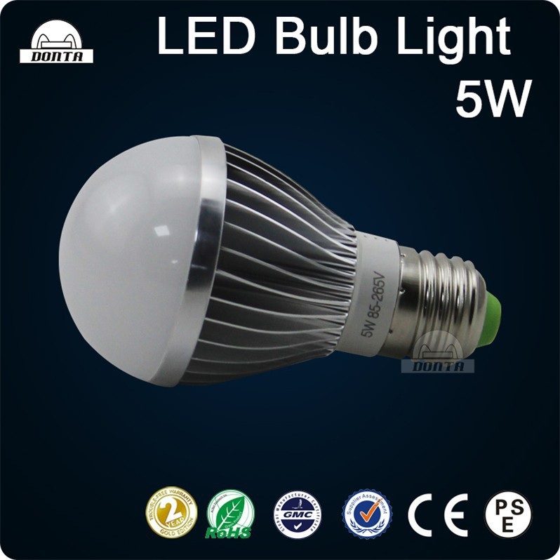 Resistant 5w e27 grow battery operated rechargeable led light bulb