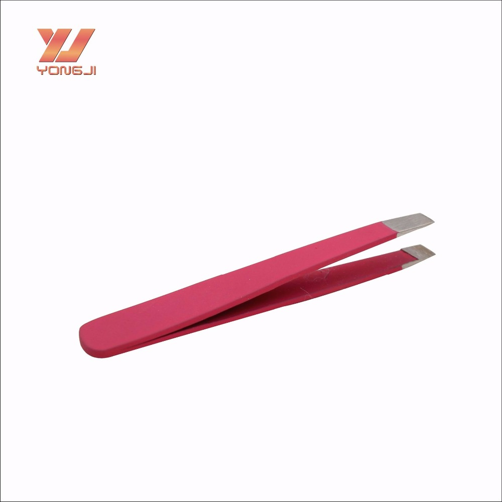 Factory Direct Sale Stainless Steel Material Pink Mini Eyebrow Tweezer
