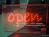 Factory sell promotional led glass