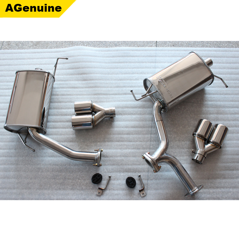 304 Stainless steel exhaust kit <strong>muffler</strong> end pipes emission pipe silencer system for BMW 3 series F30