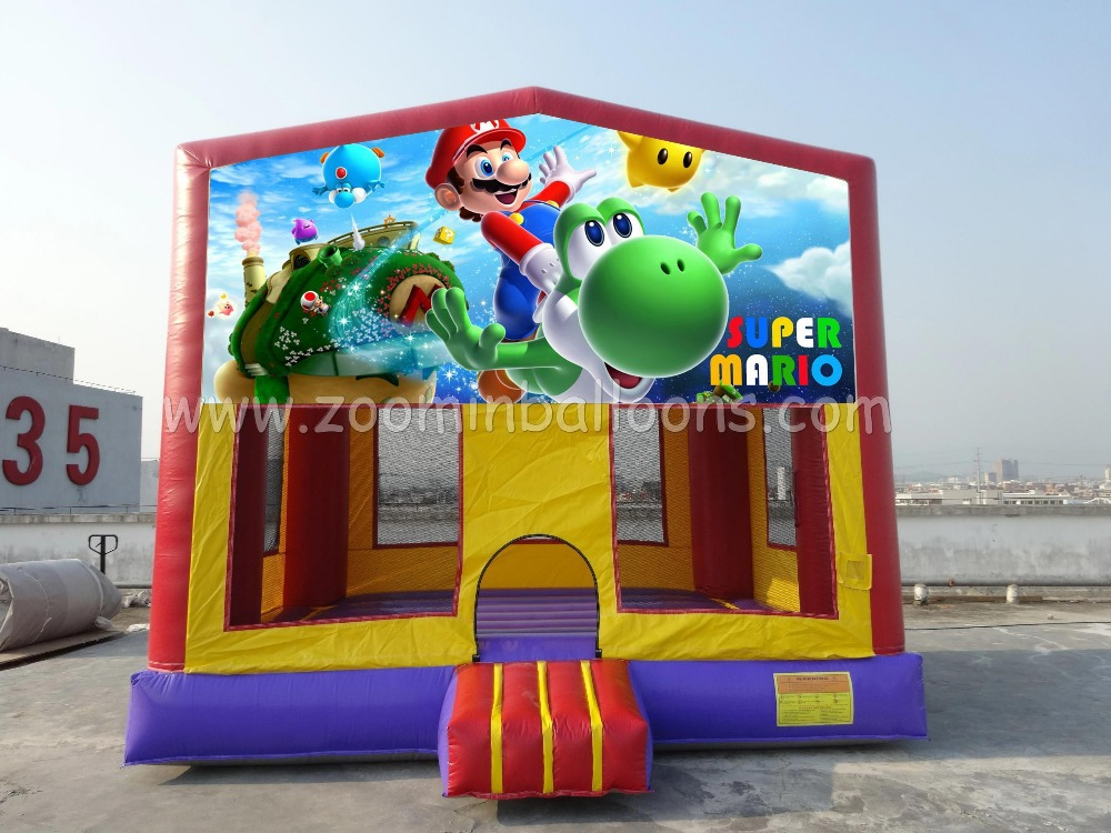 2015 Super Mario bounce house,inflatable castle ,customized art panelZ1231