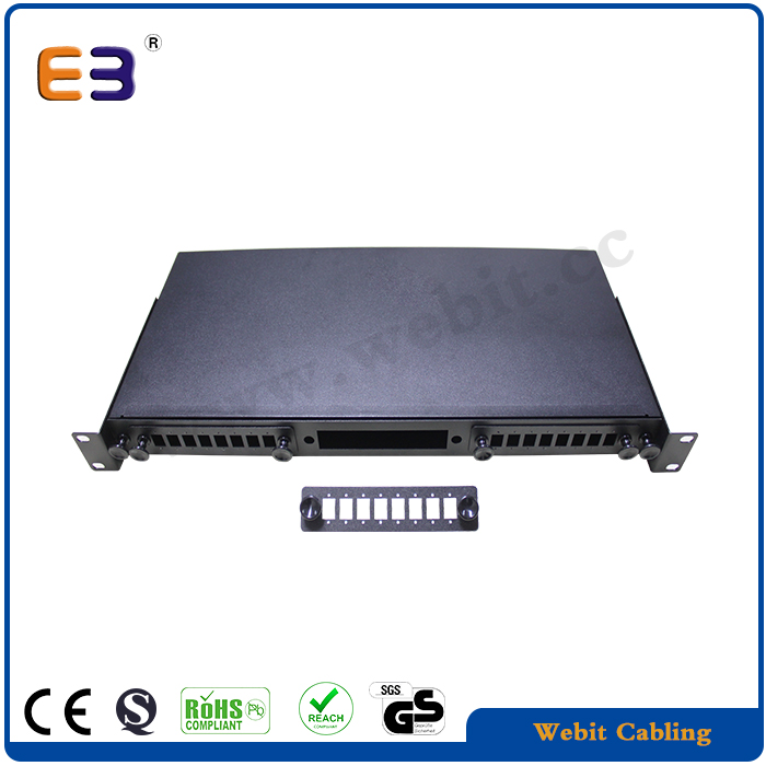 SC Simplex Blank Fiber Patch Panel <strong>19</strong>'' 1U 24 port