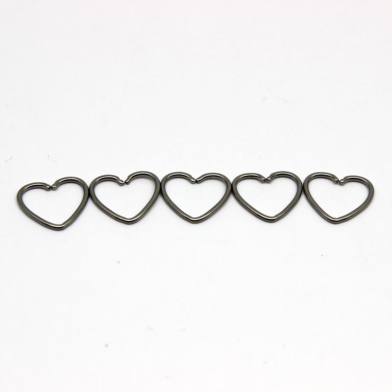 Free Sample Stainless Steel Heart Shape Body Piercing Jewelry Non Piercing Nose Ring