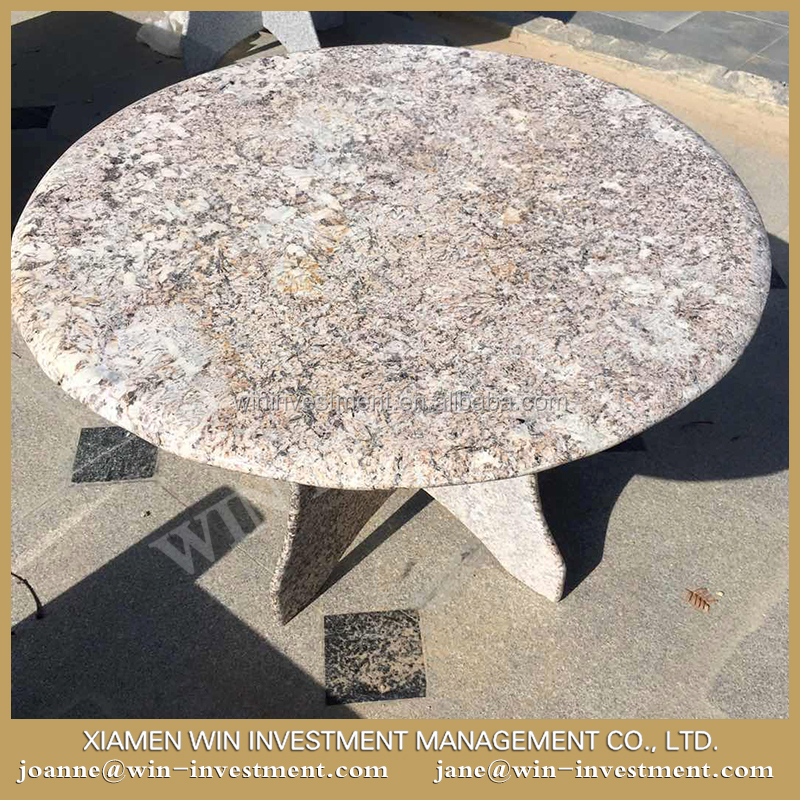 Yellow granite bench outdoor stone tables