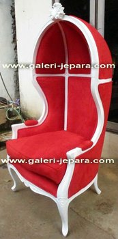 Canopy Single Chair with Upholstery - Furniture Jepara
