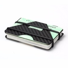 New RFID Blocking Slim Carbon Fiber Men Minimalist Wallet