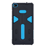 Wholesale New arrival blue color 2 in 1 protector Mobile phone cover case for huawei p8