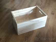 Cheap unfinished rustic wooden fruit crates wholesale