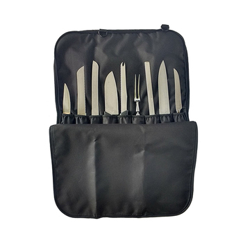 Professional factory customize high quality custom canvas chef knife roll