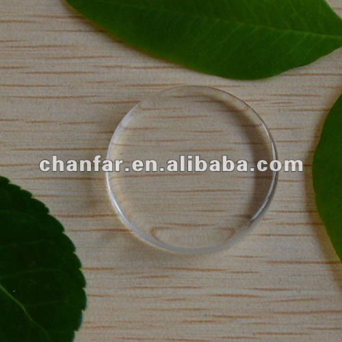 Clear round glass cabochon 25MM