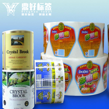 cheap customized packaging label sticker in roll thermal transfer labels printing