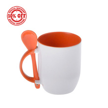Sublimation Blanks Printable Mug with Spoon Sublimation White Mug (M-SF)