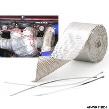 Autofab - Exhaust Header Turbo Manfold Pipe Aluminum Heat Shield Wrap Tape EP-WR11BDJ