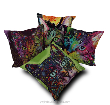 Cheap Price Throw Pillow Cover Massage Cotton Linen Cat Pillow Case For Sofas 45X45CM Square Cushions
