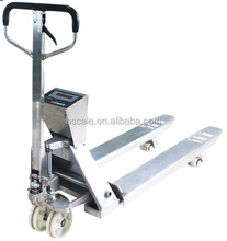 Stainless steel hydraulic pallet truck scales 1 ton / 2 ton