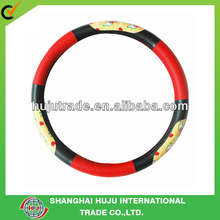 colorfull leather steering wheel cover