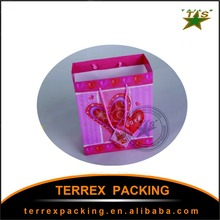 New and Fashion pink stripe paper gift bag
