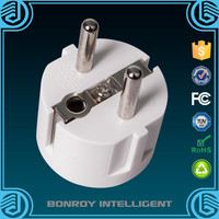 Wholesale EU Plug Adapter 2 Pin US to EU 2 Round Pin Plug Socket Input AC 250V 16A