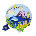 Funny Sea Animal Puzzle,Wooden Animal Shapes