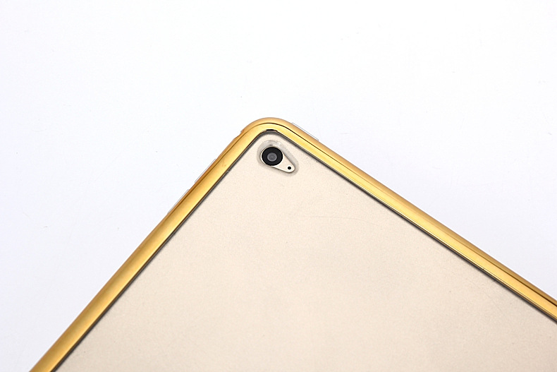 Electroplate Shining Ultra thin Soft TPU Case for iPad 2/3/4 iPad air 2 iPad mini tpu case