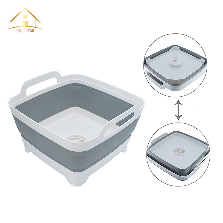 New model foldable mesh laundry basket silicone basket for vegetables/ fruit storage