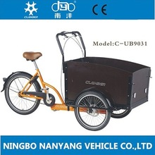 C-UB9031 2017 new 3 wheel tricycle cargo bike for adult and kids hot on sale with CE