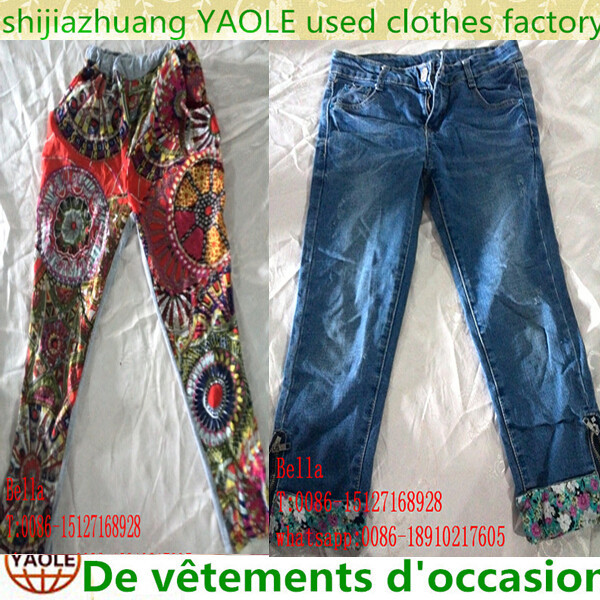 Used 3/4 short pant, fashion pant, legging women hot sale items used clothes