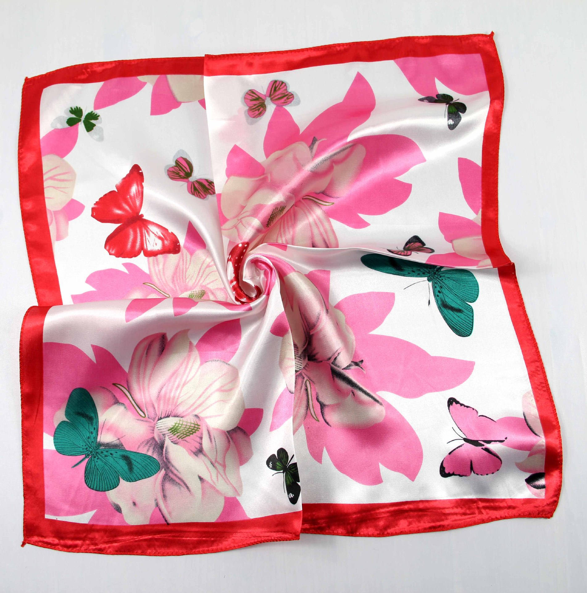 Chinese Supplier New Design Professional Women Small Silk Square Scarves Custom Scarf No Minimum