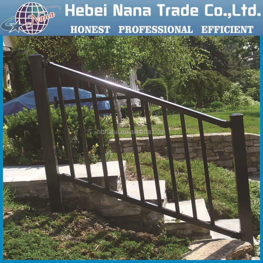 iron stair handrail manufacturer supply the outdoor wrought iron stair
