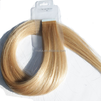 Top 100 percent raw virgin brazilian hair tape hair factory