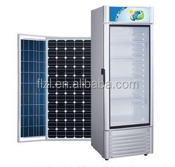 380L dc 24v solar commercial cooler fridge /display/showcase