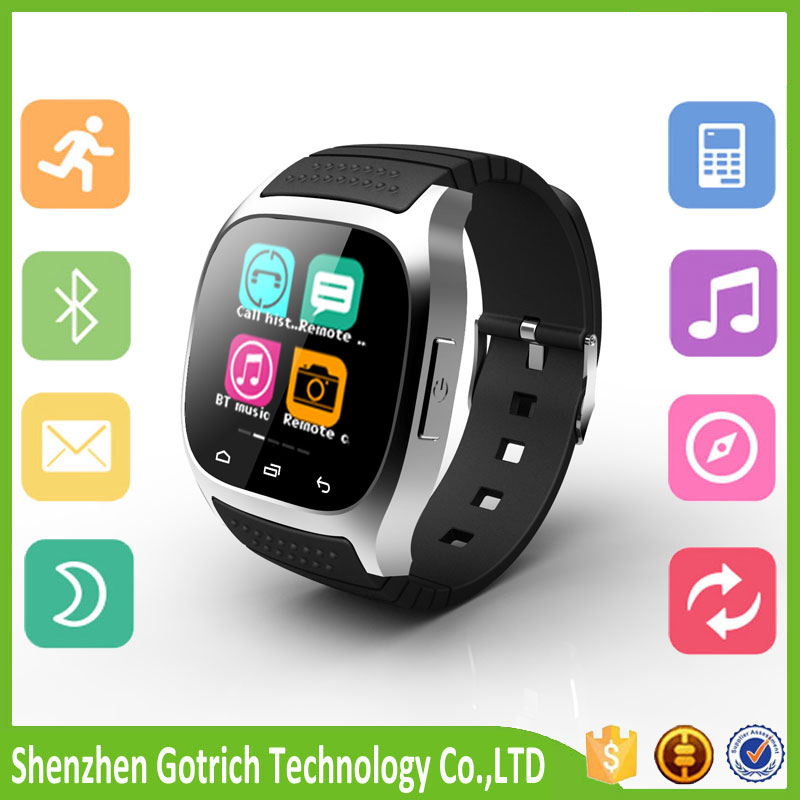 2016 hot sale bluetooth smart wearable bluetooth smart wath and bluetooth smart watch wristband