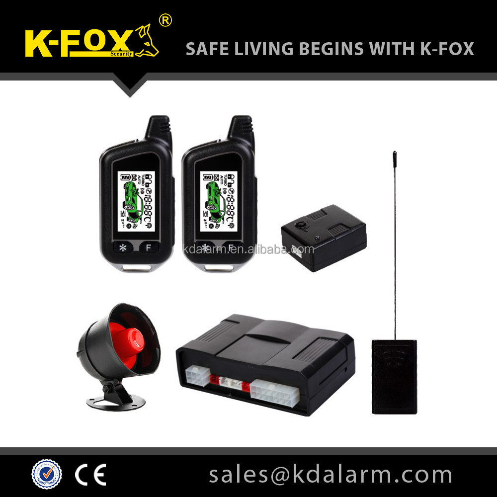 Best two way car alarm system complete function KD89000A