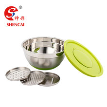 multi-function Stainless steel salad bowl