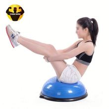 RAMBO Top Quality 58Cm Anti-Burst Pvc Crossfit Yoga Blance Training Half Exercise Round Balance Ball