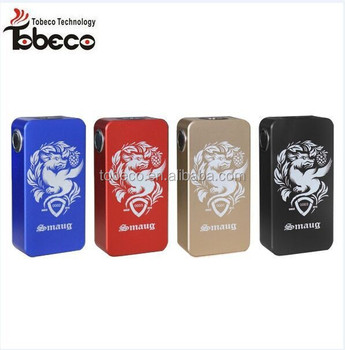 Tobeco 4 color smaug box mod,Aluminum smaug box mod, lowest price wood box mod