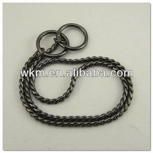6mm dog training collar choke chain