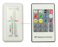 Plastic RF 433M 20 Keys 12A DC12V-24V RGB LED Strip Controller With Easy Connection For LED RGB Strips