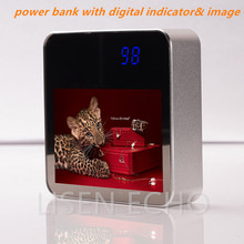 Customizing gift advertising power bank cell phone charger with digital indicator polymer battery 6600mah