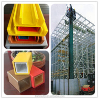 Using FRP Square tube and Beams etc profiles fiberglass profiles for cooling tower handrail and structure