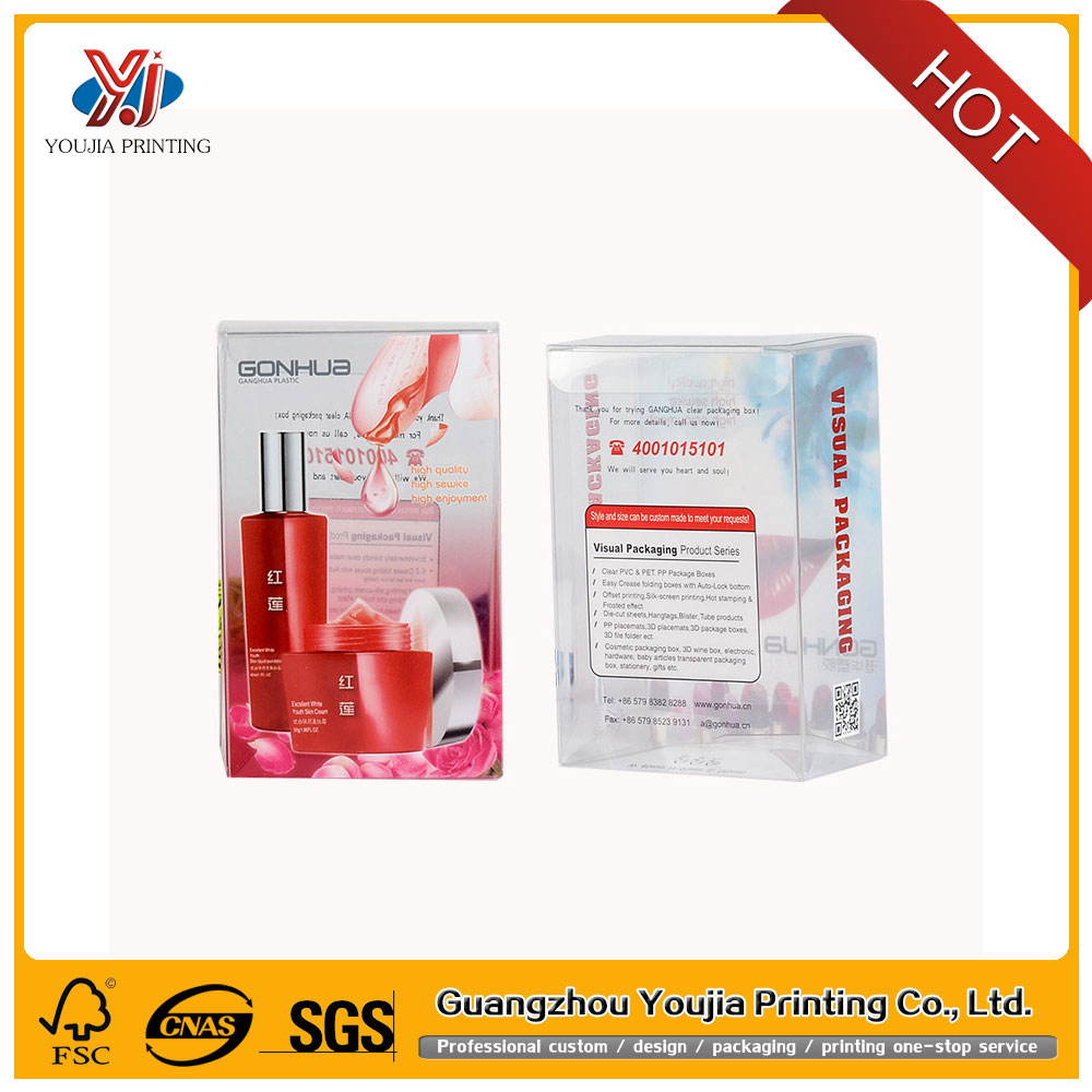 Manufacturers custom clear cosmetics packaging plastic boxes