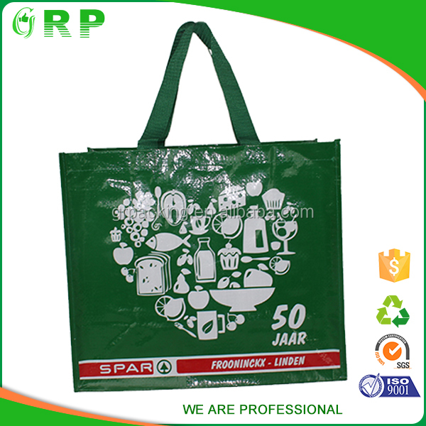 New trend big capacity heart shape pp woven pet shopping bag