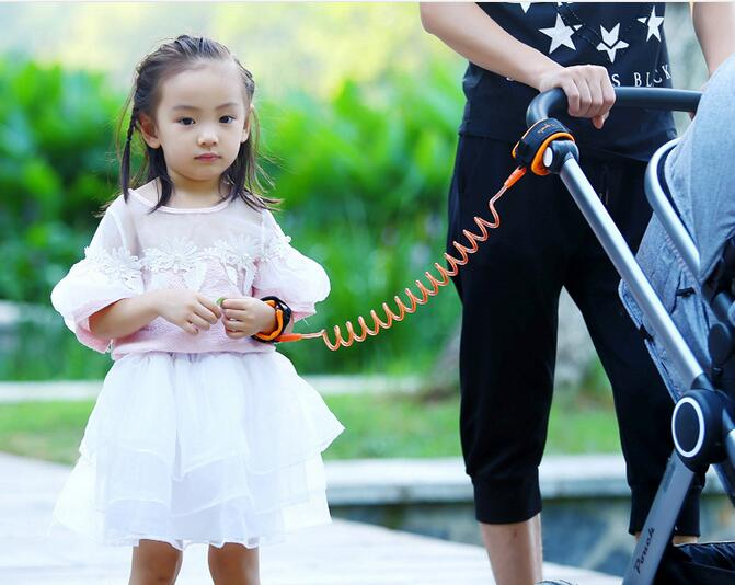 Kid child anti-lost band baby safety harness anti lost strap wrist leash walking with high quality